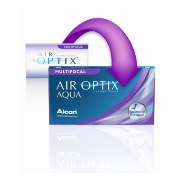 AIR OPTIX AQUA MULTIFOCAL (3 лещи) Aqua