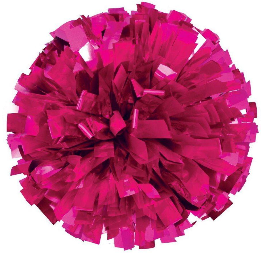 Hot pink stars cheerleading pom poms and cheer dance