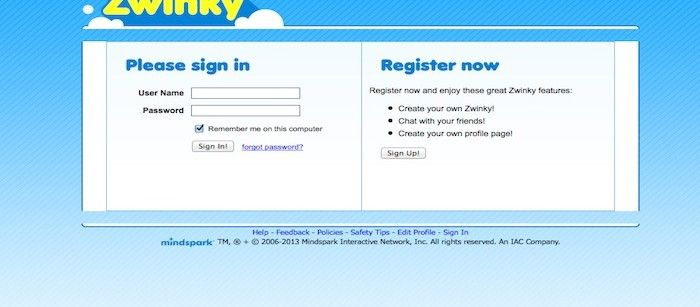 Zwinky Login   Web Site   App login, Login page, Online games