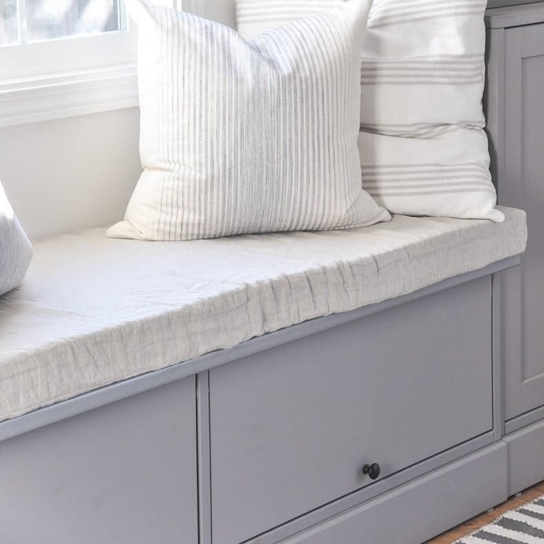 Easy DIY bench cushion with removable cover