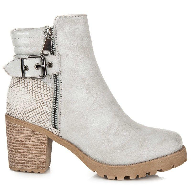 284a15de6c Sivé vysoké topánky KA16-20L.G