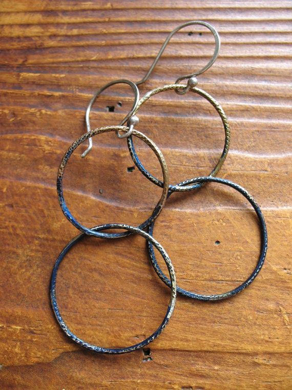 Glimmers of Midnight  Patina Brass and Sterling by missficklemedia, $22.00
