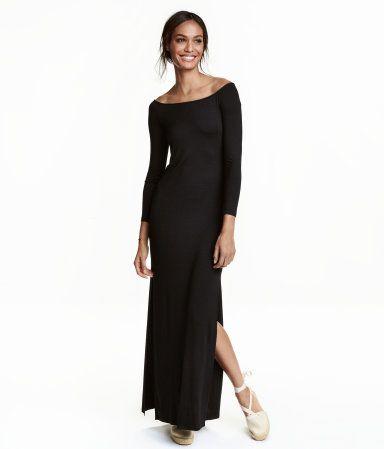 Off-Shoulder-Kleid | Schwarz | Ladies | H&M DE | Clothes ...