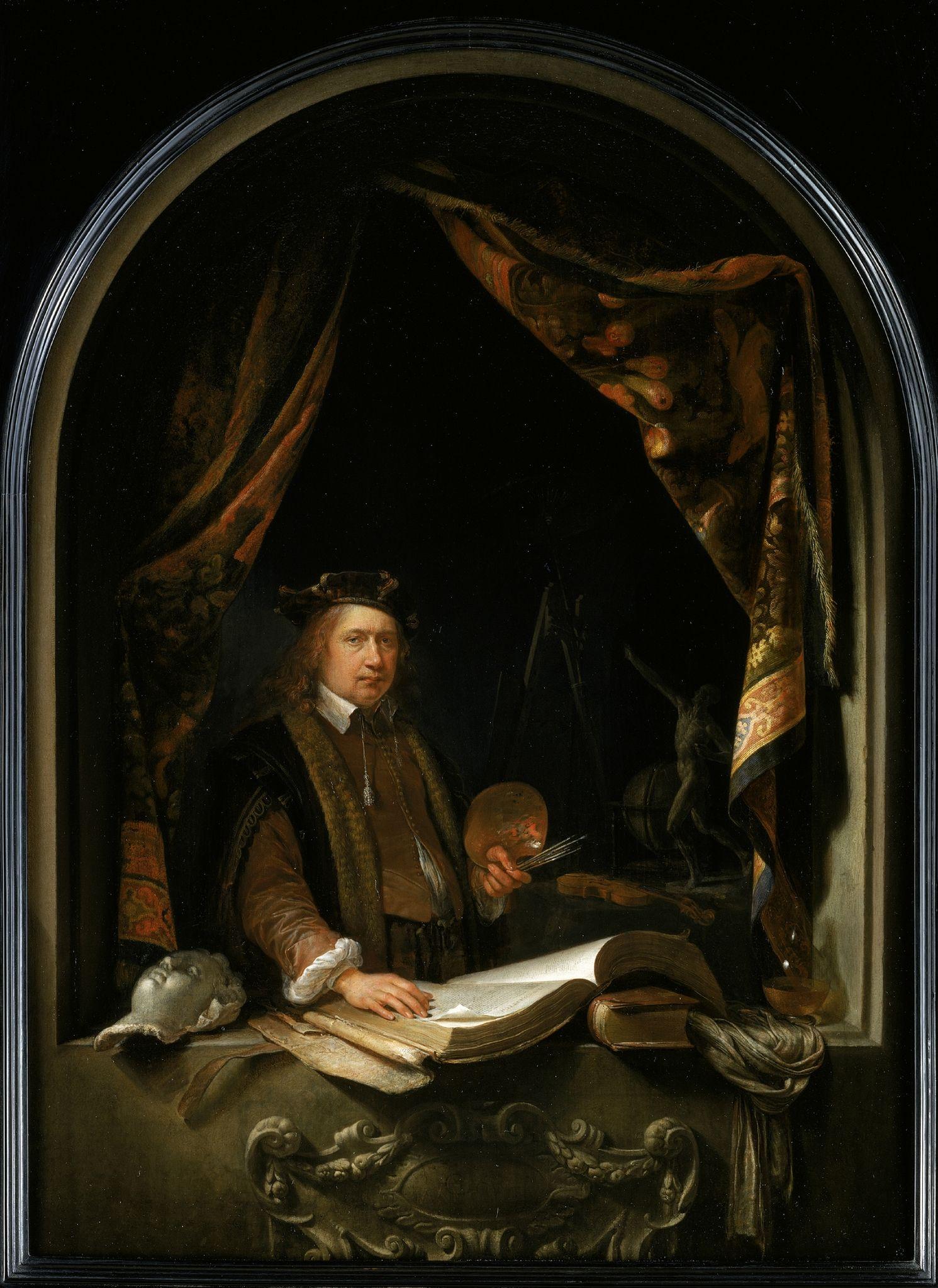 Gerrit Dou (Leiden 1613-1675 Leiden), Self-Portrait, c.1665. Collection Eijk and Rose-Marie de Mol van Otterloo