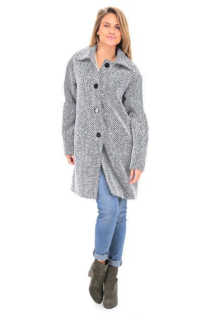 buy popular 1c6b6 12d9c Cappotto Nero Twin Set Jeans | Overcoats FW2016 | Cappotti ...