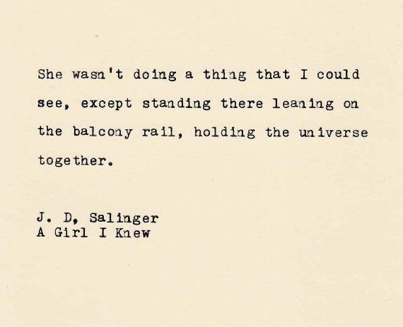 THE J.D. SALINGER Quote Made On Typewriter, Typewriter