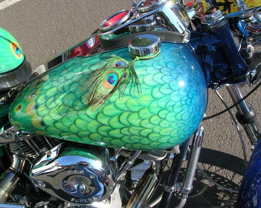 Peacock Bike by Biker art