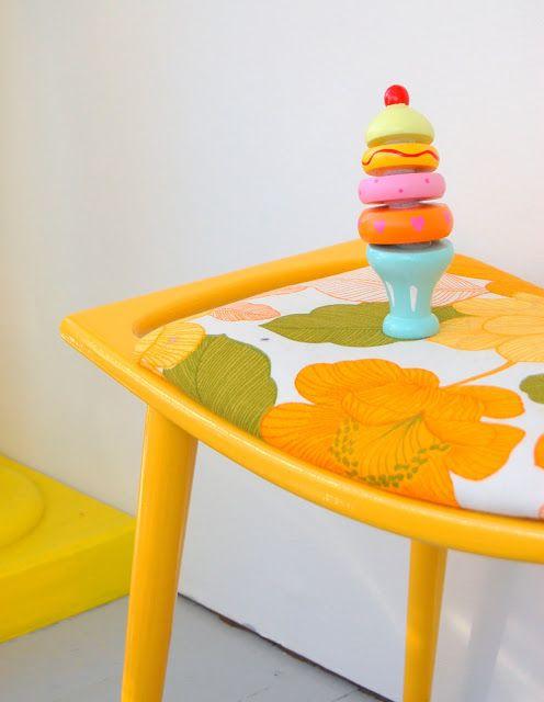 lovely combo! (yellow paint and floral print) - ElleVillaMalla: Vårforberedelser....