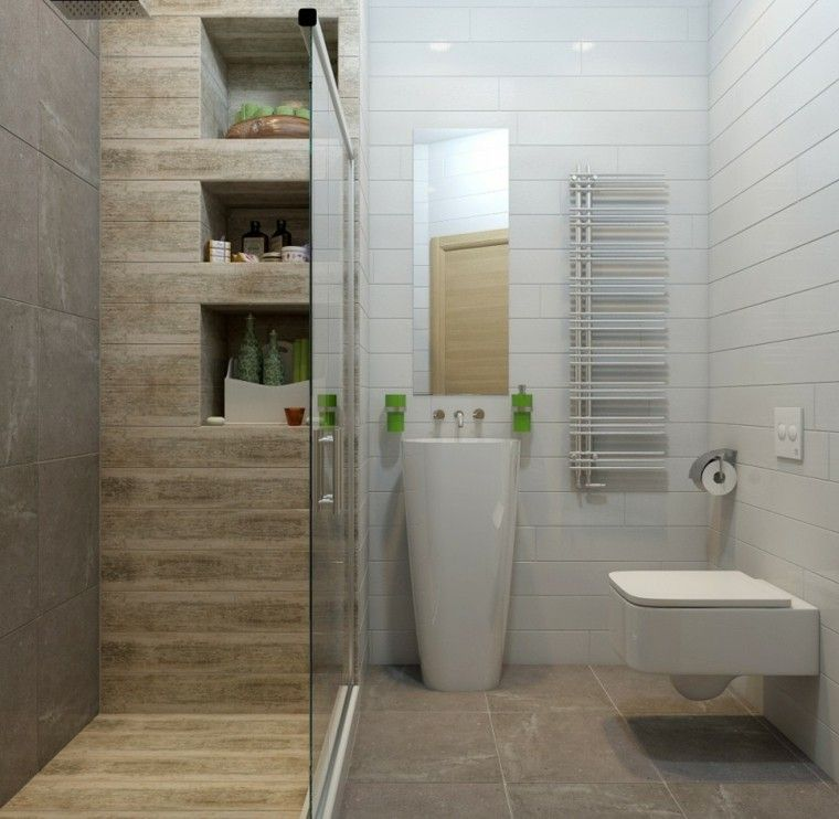 Ba o peque o con cabina de ducha ideas para el hogar - Cabinas de ducha ...