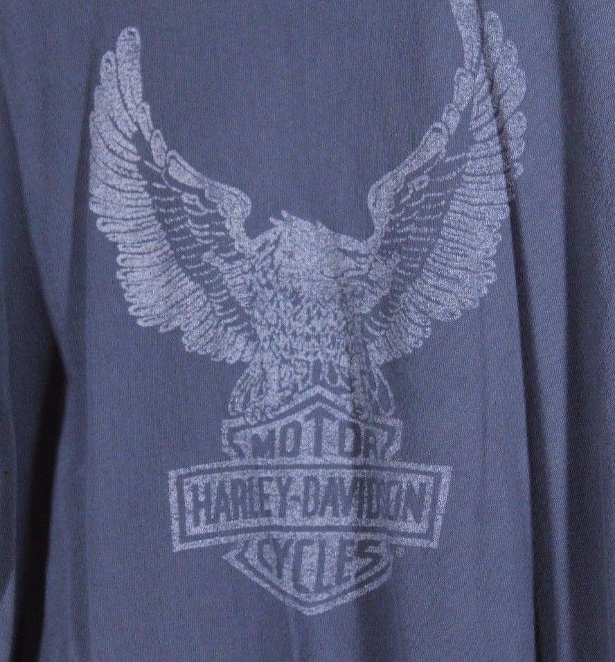 Harley davidson eagle dealer exclusive size l tshirt gray