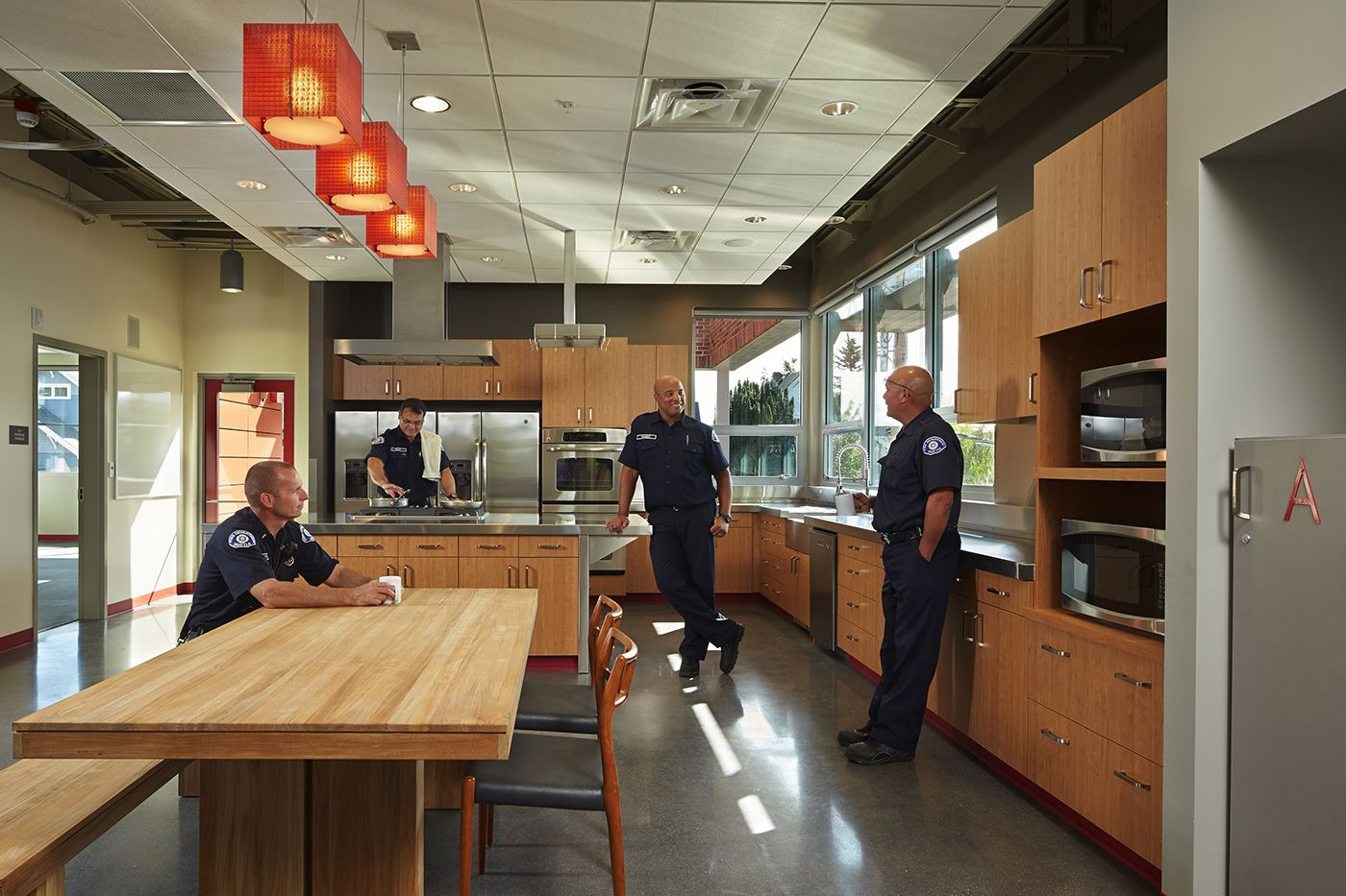 Fire stations interior station your fire department fire for Interior design department