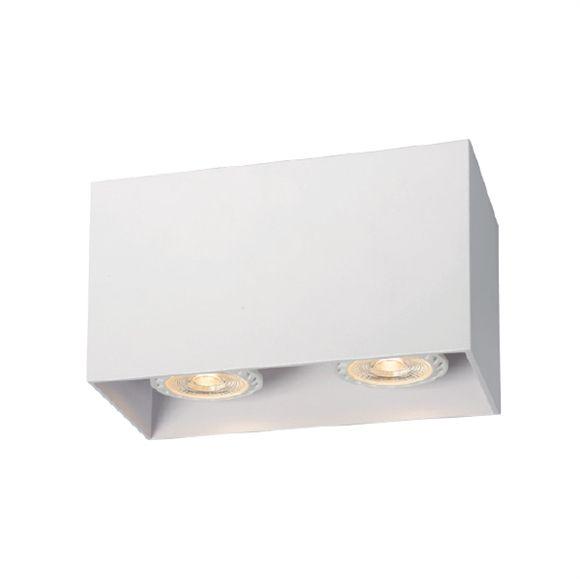 Faretto Doppio Gu10 Led Da Soffitto Rettangolare Bianco Per Interni Illuminazione Led Soffitto Soffitto In Metallo Faretti