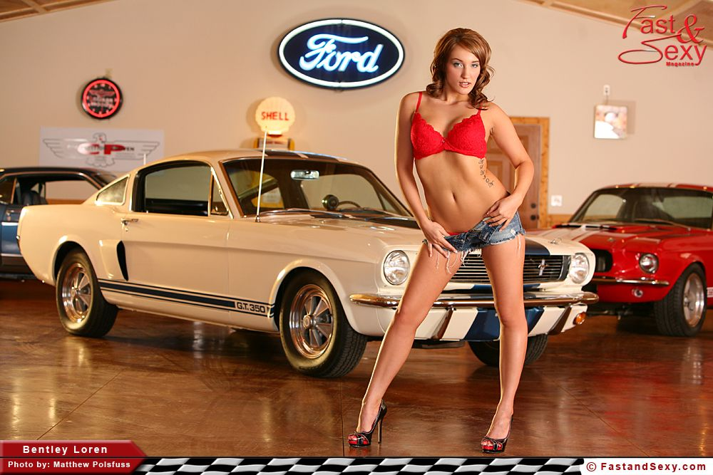 Car muscle naked photo woman