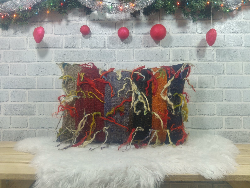 16x24 handwoven pillow , cushion cover , lumbar pillow , accent throw pillow , ethnic pillow , bohemian pillow, sofa pillow, 1717