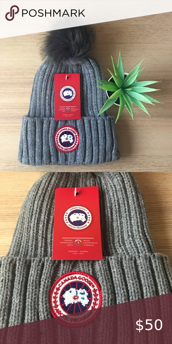Canada Goose Beanie Brand New Authentic Canada Goose Unisex Beanie With Pom Comes With Tags And Had Never Been Worn Real Nice Tigh Beanie Hats Beanie Hats