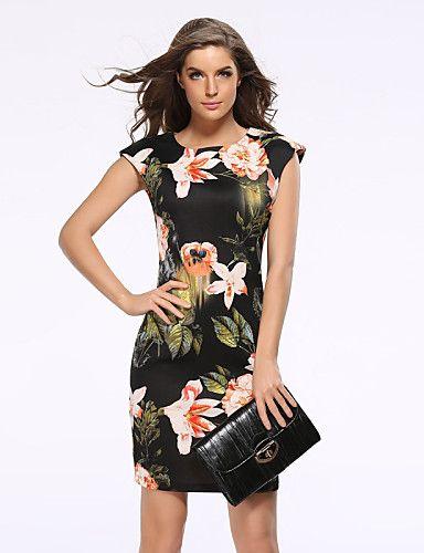 240109ed9 14.99  Mulheres Tamanhos Grandes Moda de Rua Delgado Bainha Vestido ...