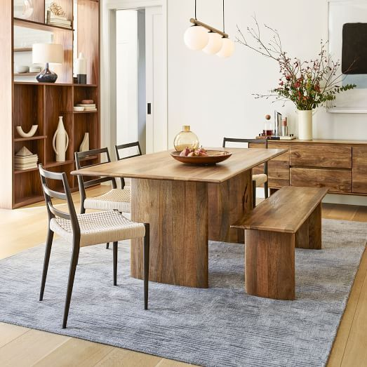 Anton Solid Wood Dining Table West Elm Wood Dining Bench Wood