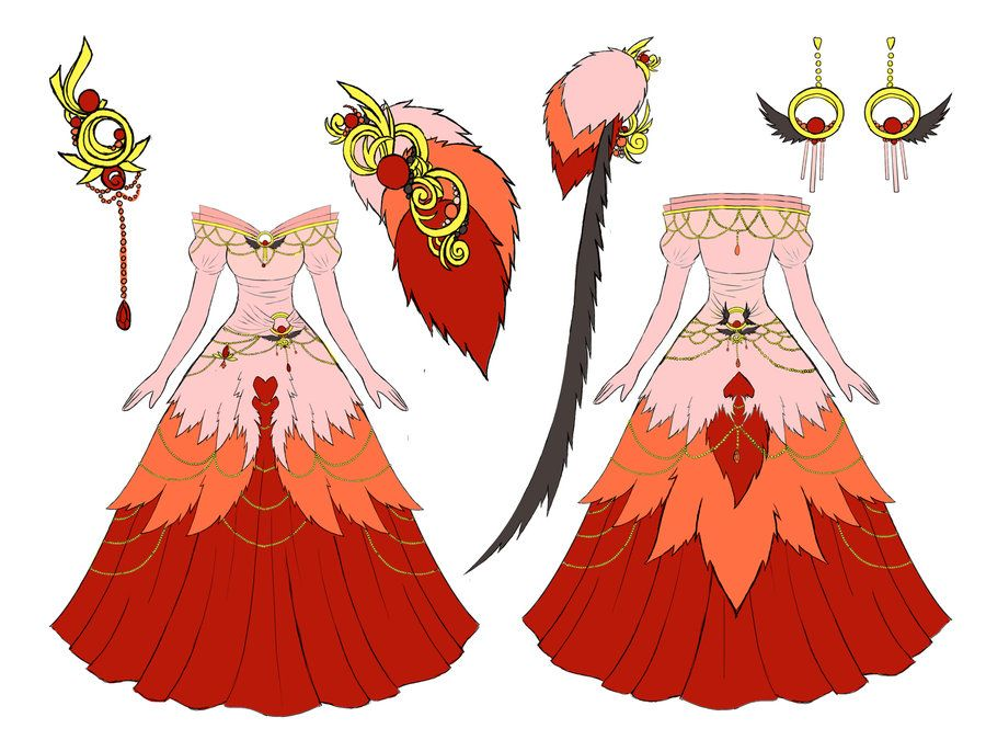 Flamingo Dress Design By Eranthe On Deviantart Fantasy Clothing Designer Dresses Art Clothes