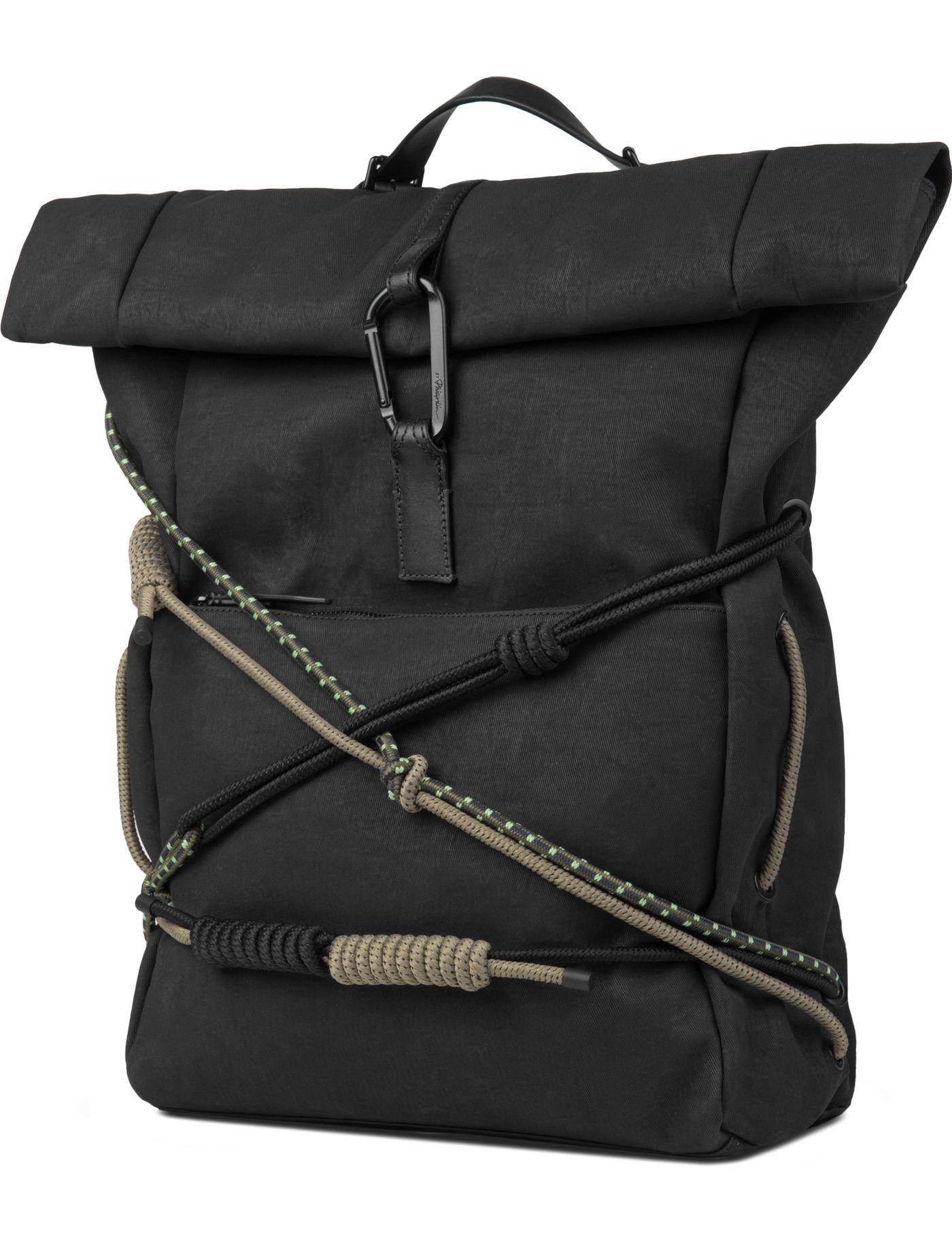 Black Alpine Roll Top Backpack | style Top backpacks