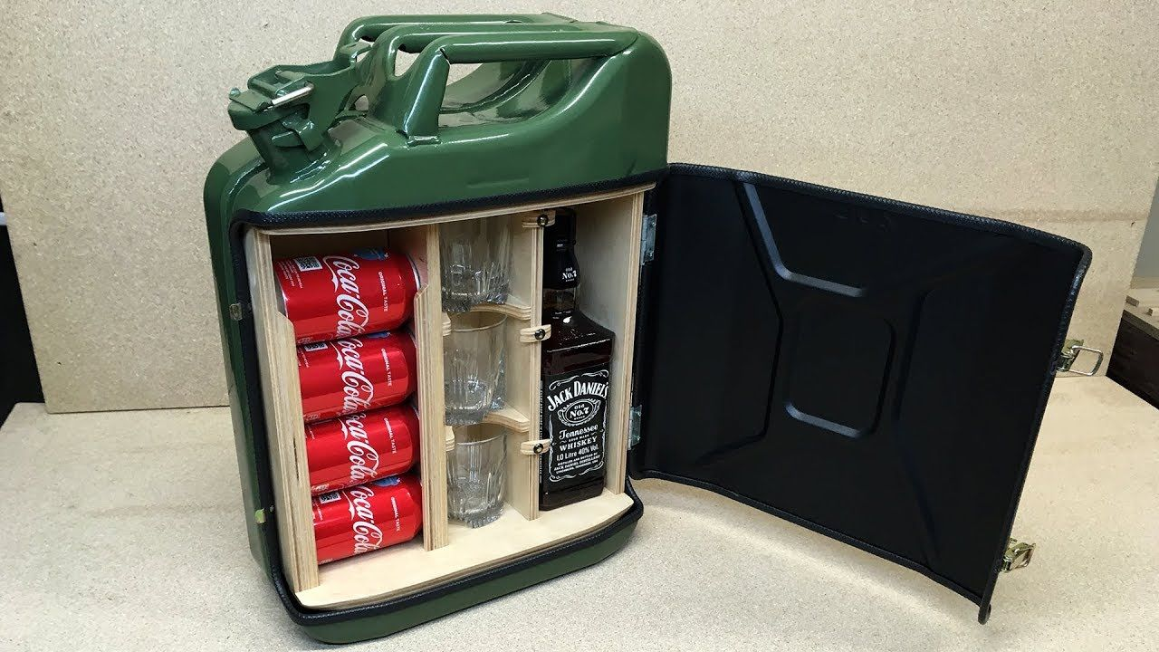 How To Make A Mini Bar From Jerry Can - YouTube | DIY Do-It-Yourself ...