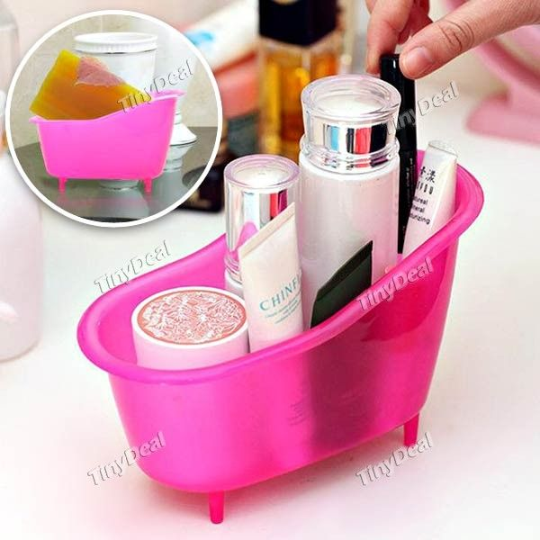 Stylish Bathtub Shaped Plastic Storage Case Box Organizer ...