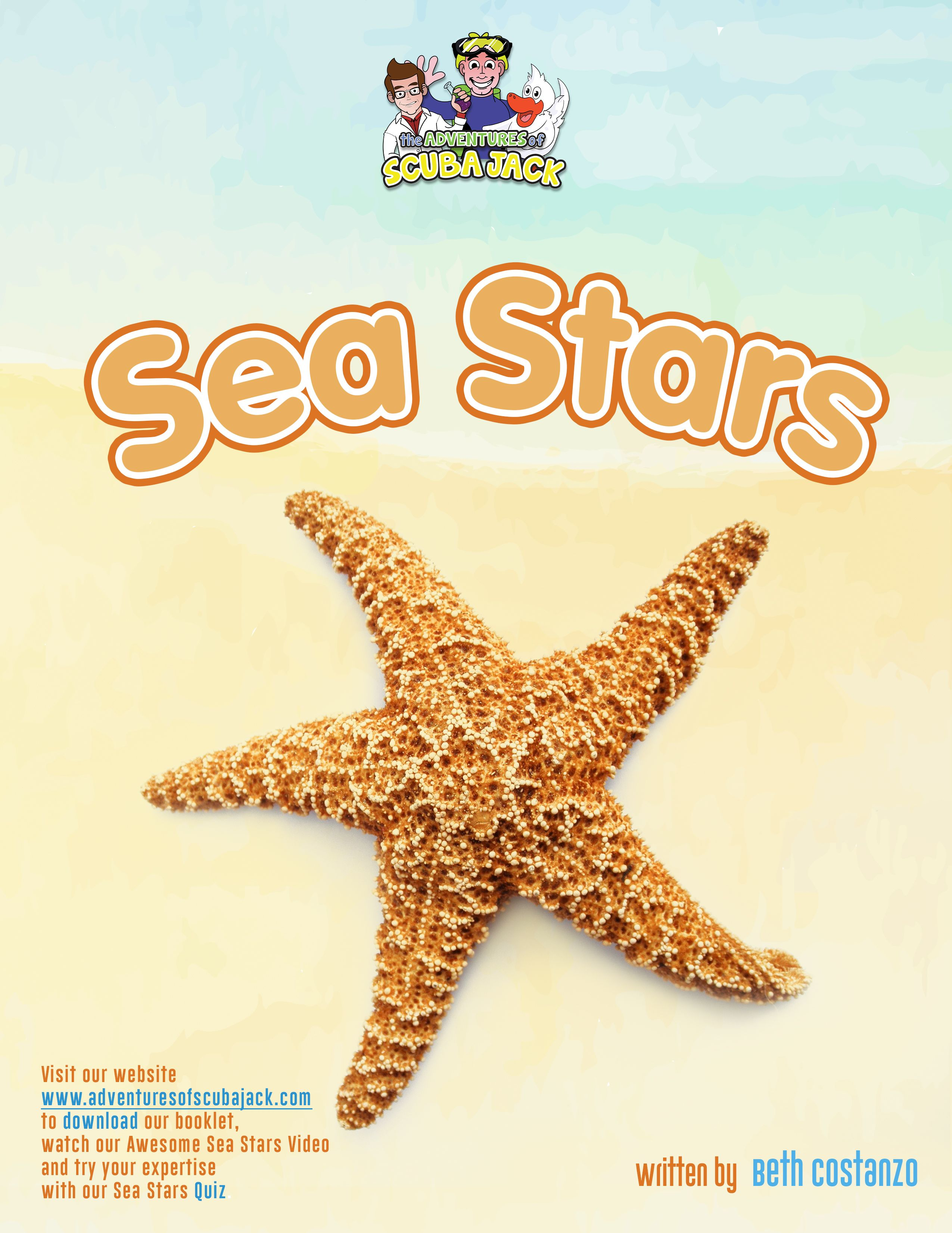 Sea Stars Educational Booklet For Kids In