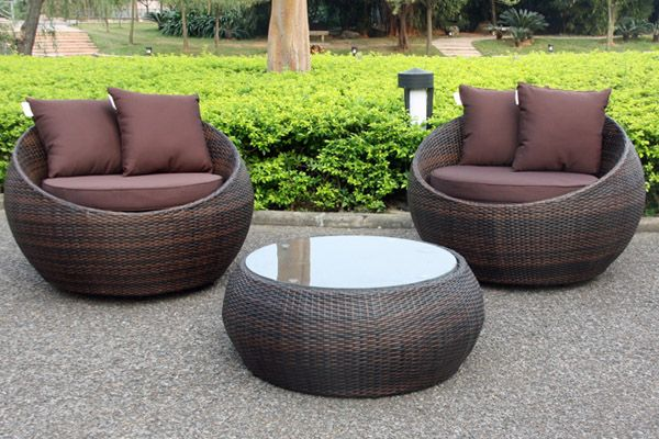 Cocoon Swivel 3 Piece Outdoor Balcony Setting | Outdoor Settings - Cocoon Swivel 3 Piece Outdoor Balcony Setting Outdoor Settings