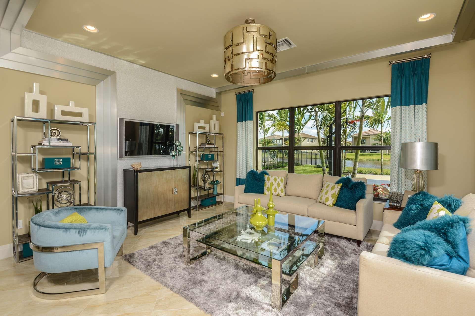 Seven Bridges Somerset Family Room Delray Beach Florida Florida Real Estate Home