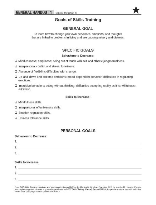 Printables Dbt Worksheets dbt worksheets bloggakuten therapy training and on pinterest