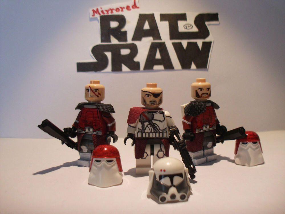 Lego Star Wars minifigures - Clone Custom Troopers Comdr Bacaras ...