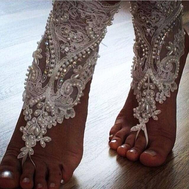 Beach wedding ... Barefoot sandals