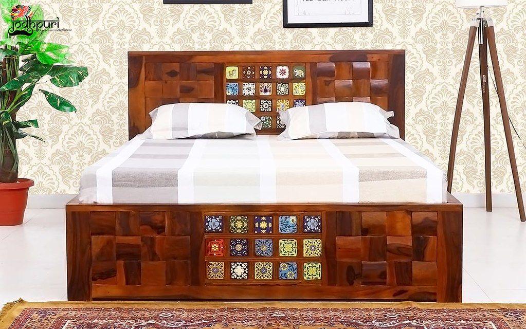 Jodhpuri Furniture posted a photo: CATEGORY:- King Size Beds ...