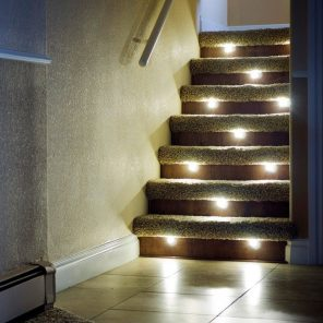 Led Lights For Stairs Kit Recessed Indoor Stair Lighting In 2020 Stair Lights Indoor Stair Lighting Step Lighting