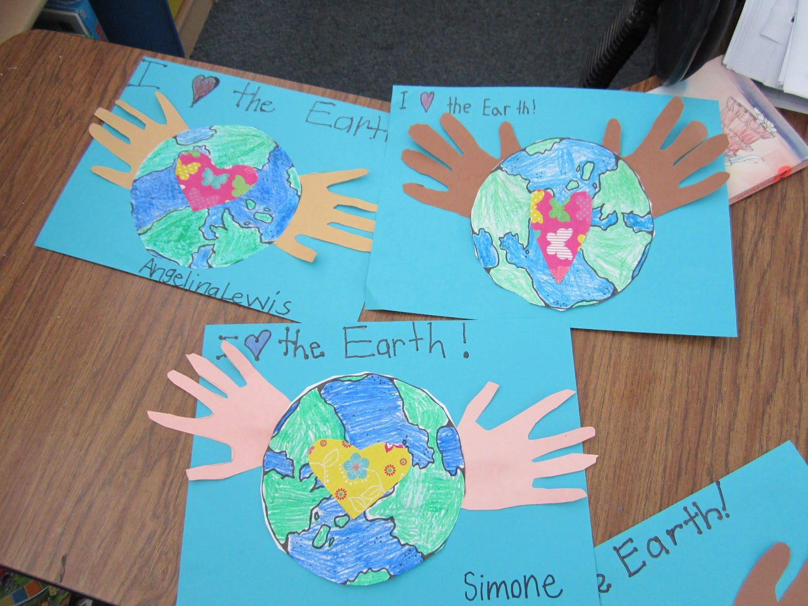 earth day projects for kids earth day art and wrote about how we could help save the. Black Bedroom Furniture Sets. Home Design Ideas