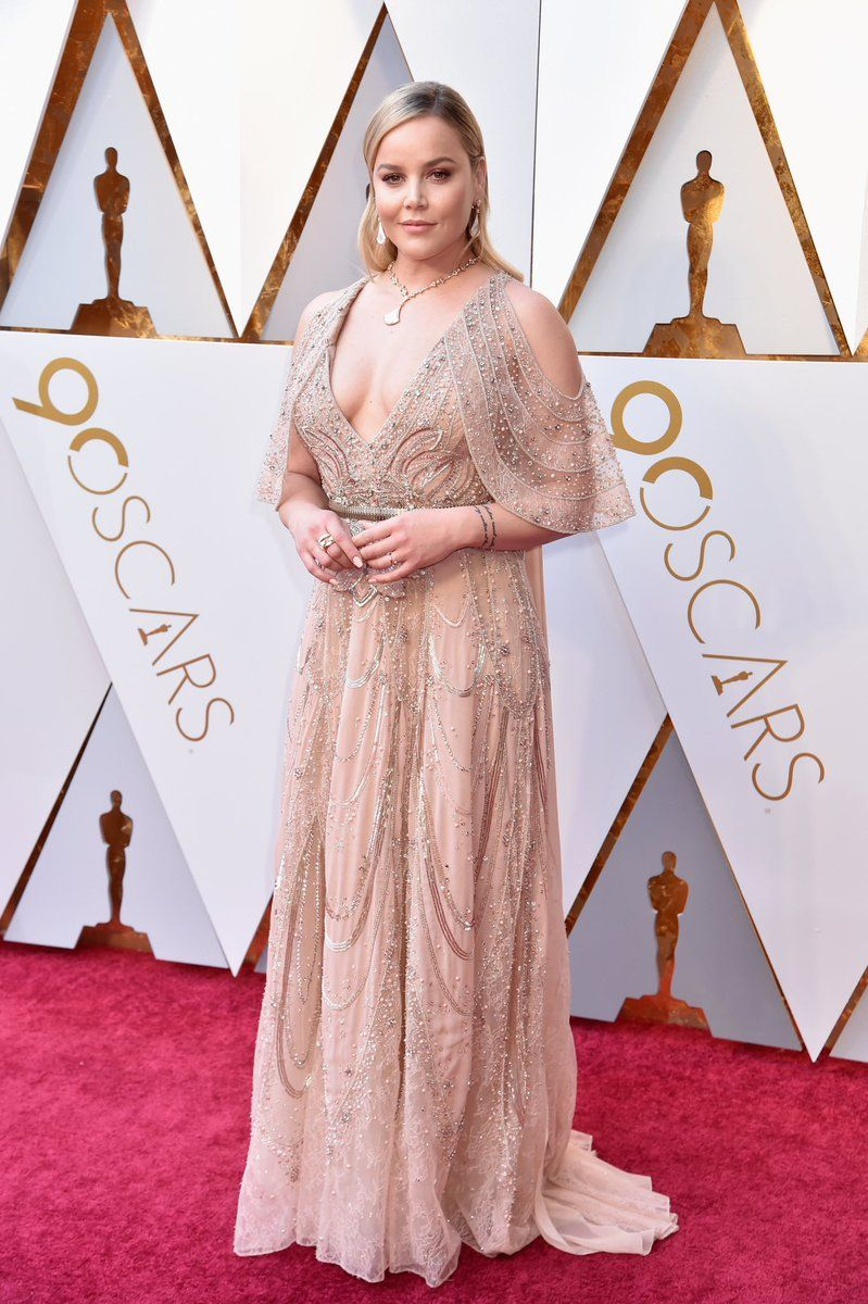 A radiant Abbie Cornish in ELIE SAAB Haute Couture at the red carpet ...
