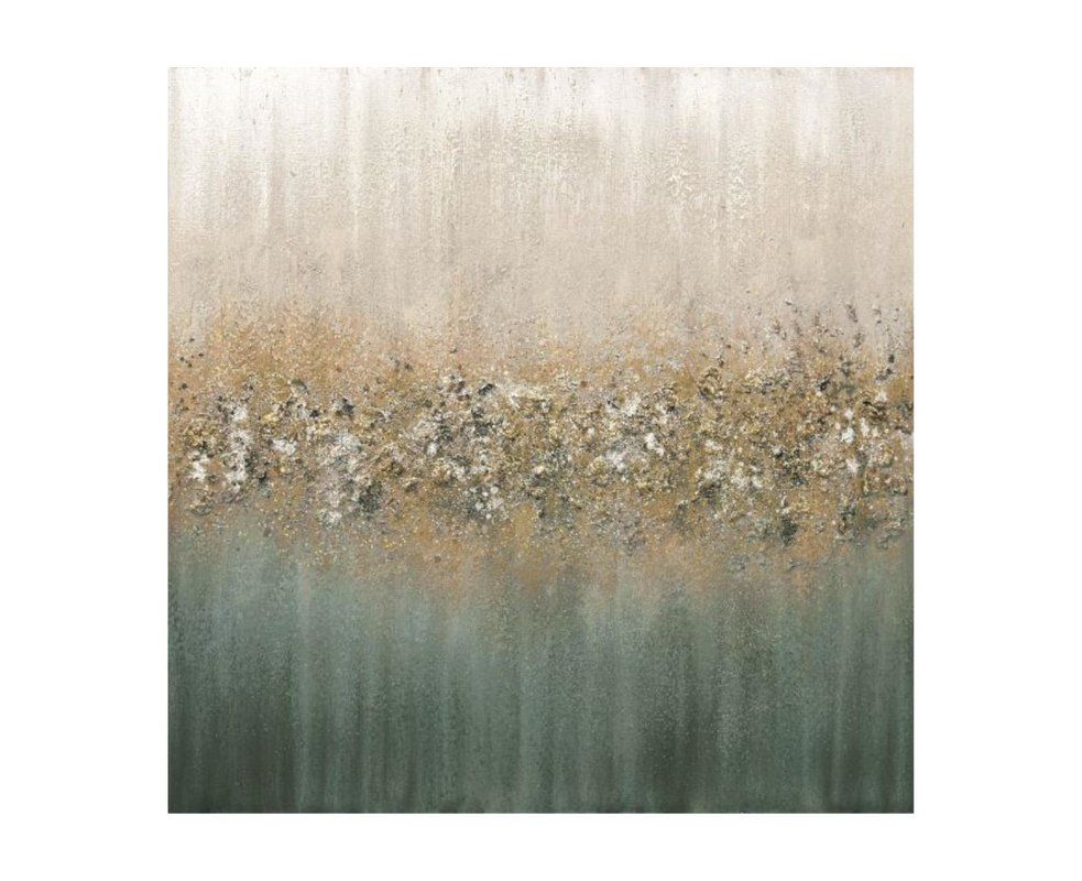 Golden Fog I Glitter By Beverly Fuller Wrapped Canvas Graphic Art