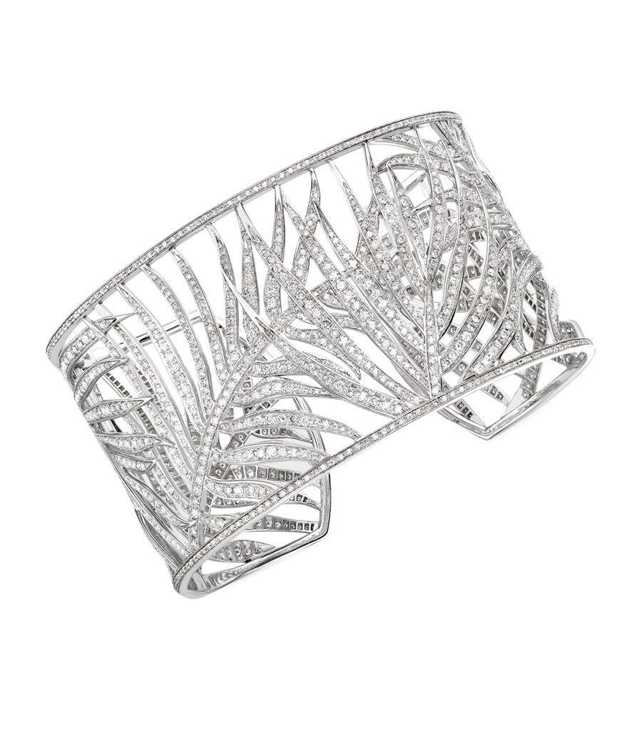 Theo Fennell White Gold Palm Diamond Cuff | Harrods