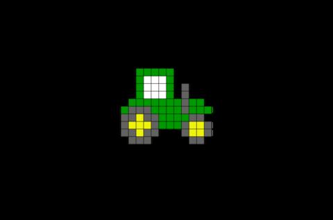 Tractor Pixel Art Pixel Art Art 8 Bit Art