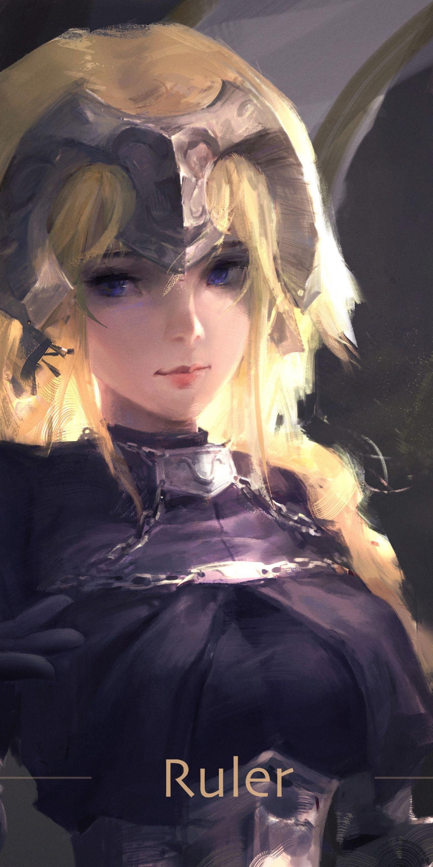 Ruler, Jeanne d'arc, fate/stay night, art, 1440x2880