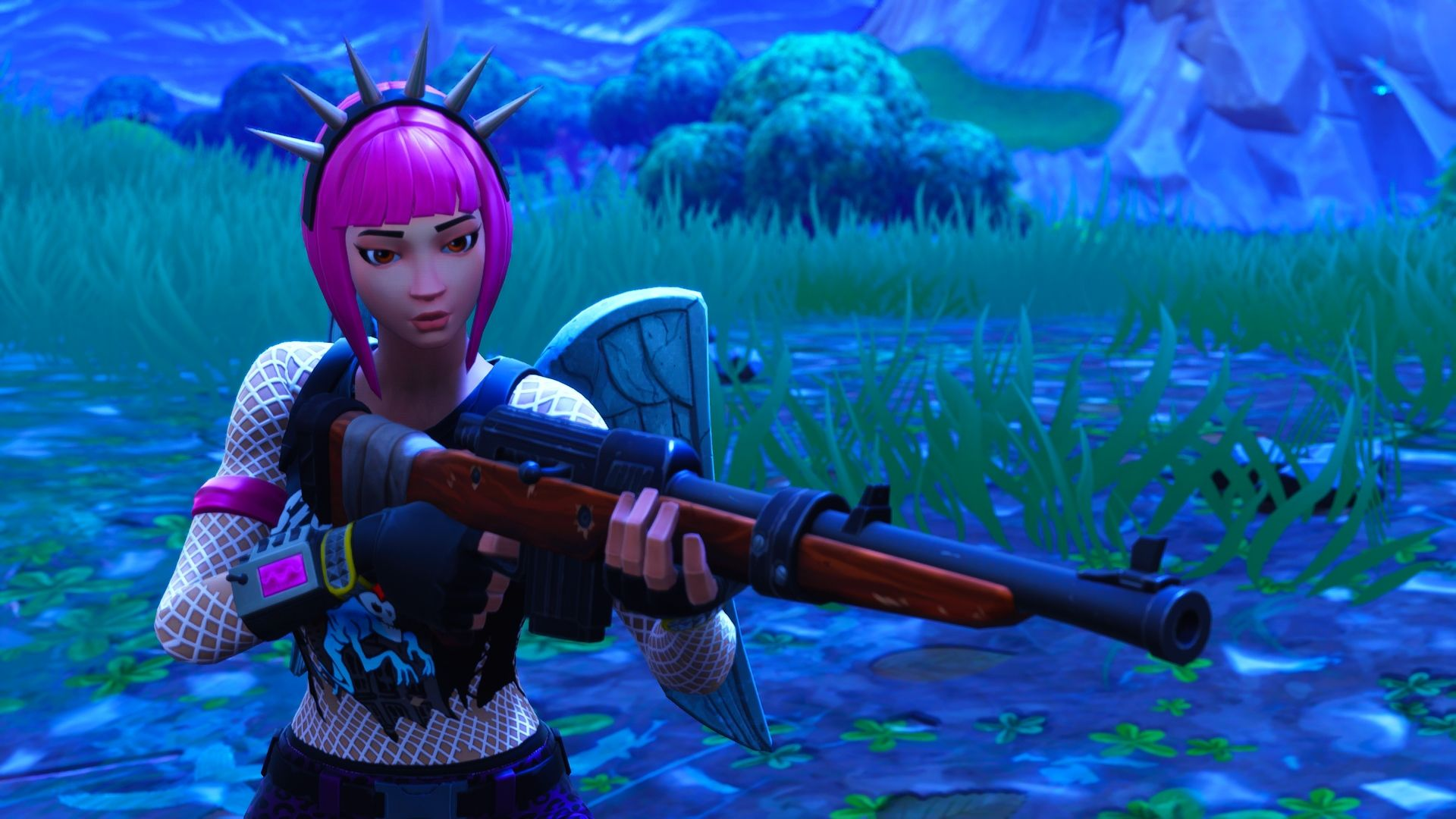 1920x1080 Hd Wallpaper Of Power Chord Fortnite Battle Royale Video Game Jogos