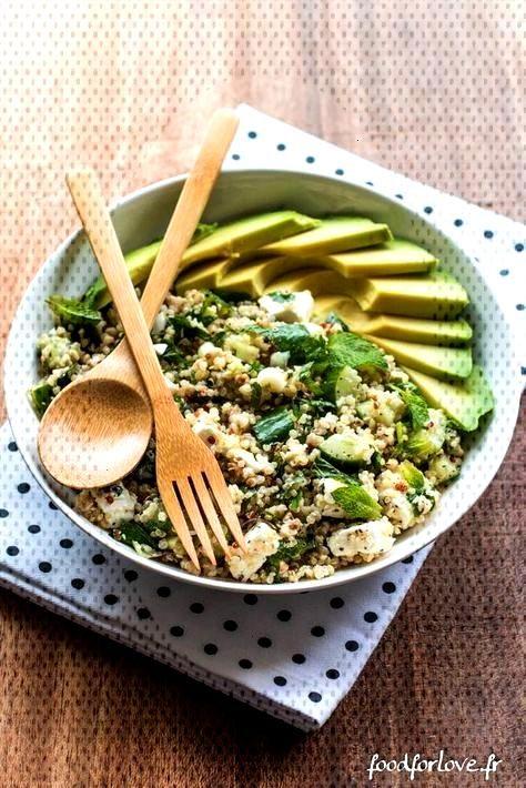 Complete Plate Quinoa, Buchweizen, Avocado, Gurke, Minze und Feta - Food for Love - -
