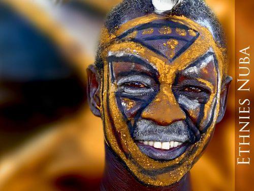 Nuba Soudan Afrique Afrique Visage Visage Du Monde