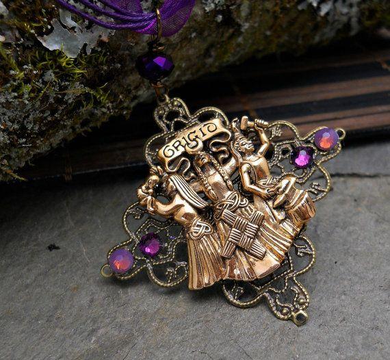 Gorgeous deatiled Goddess Brigid by GypsyMoonsGems on Etsy, $27.99