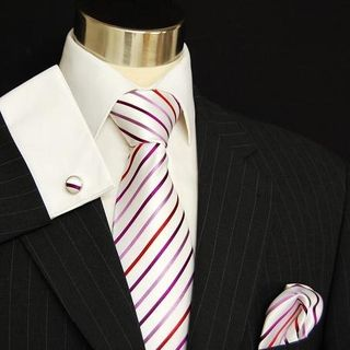 Black and White Linen Tie by Paul Malone Red Line