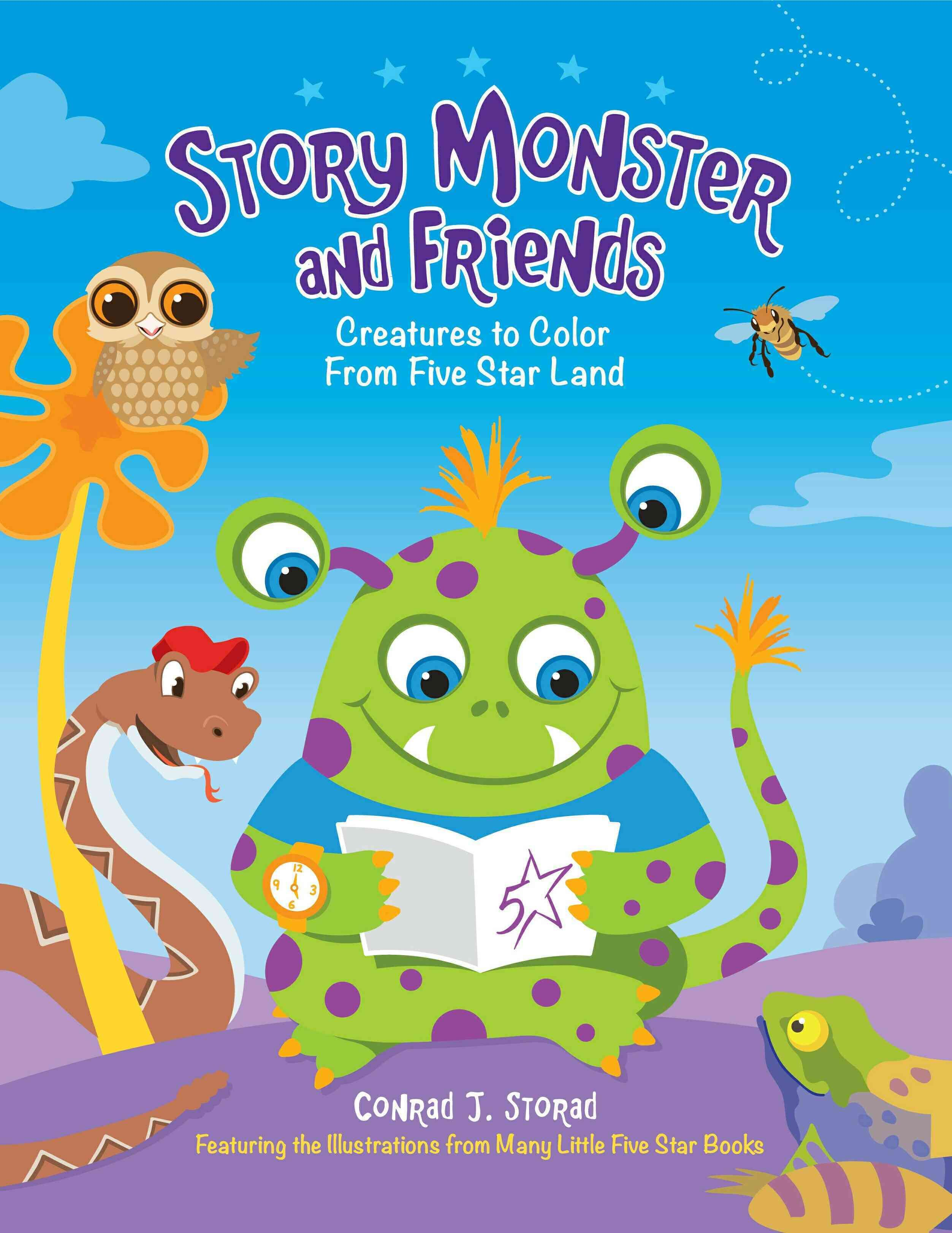 Story Monster and Friends: Creatures to Color from Five Star Land ...