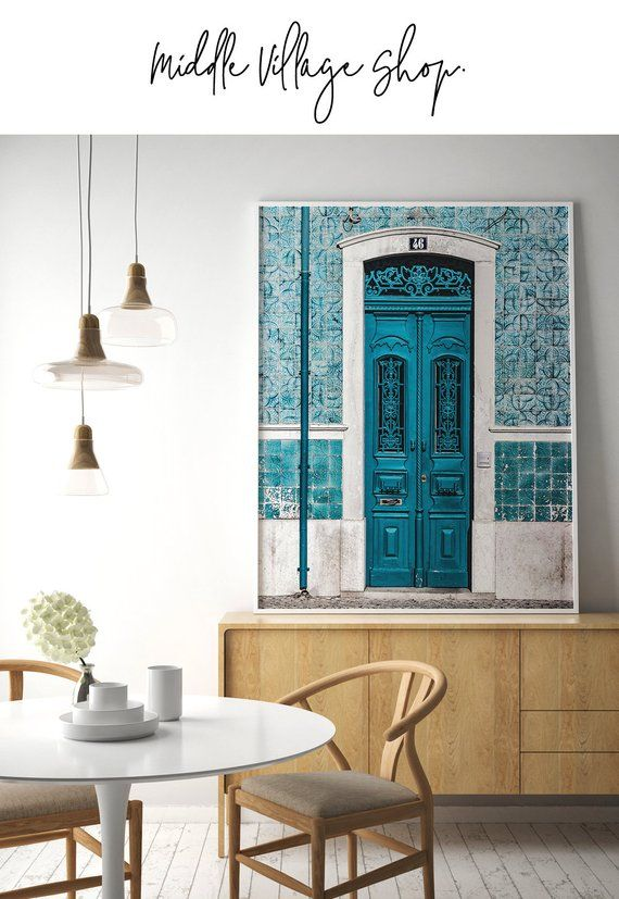 Lisbon Print Portugal Poster Portuguese Tiles Blue Door Print Lisbon Wall Art Downloadable Prints Lisbon City Photography Prints Portugal Bs Huge Wall Art Home And Living Blue Door