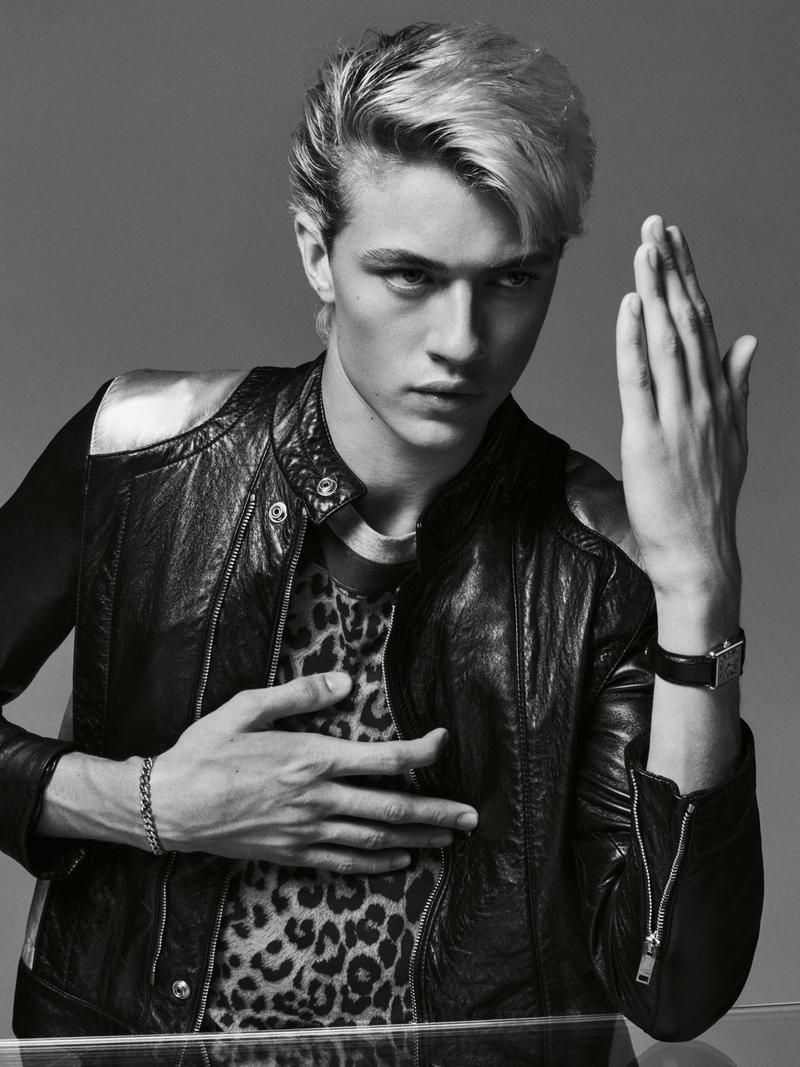"Lucky Blue Smith in ""Rebel Rebel"" by Sebastian Kim for GQ Magazine January 2016 Issue"