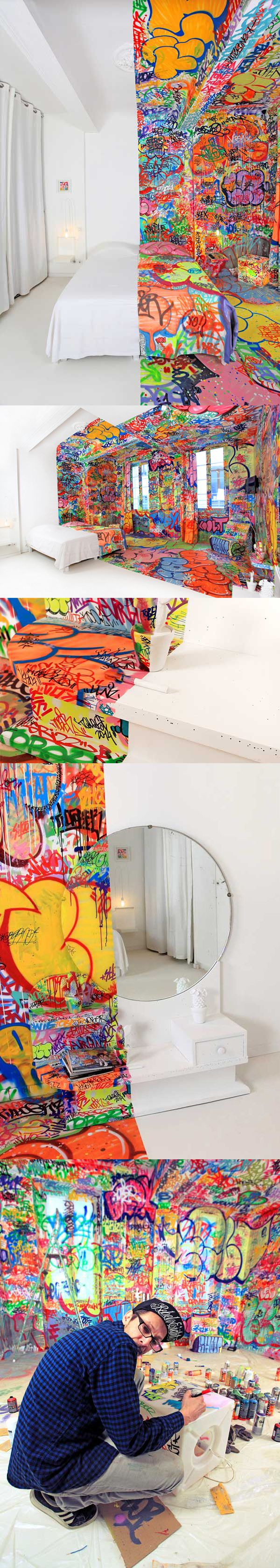 Urban Art Street Graffiti Home Decore Bedroom Bathroom Amazing Interior Design Unique Color Fun Innovative Daring Wild