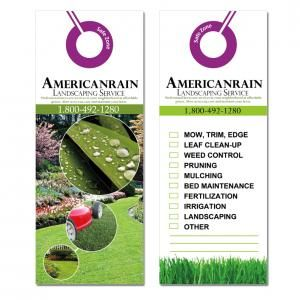 Distribution Ideas For Landscaping Or Lawn Service Door Hangers