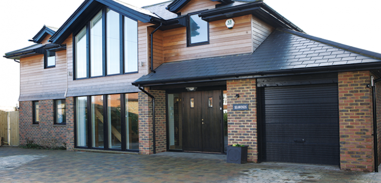 Self Build Home With Integrated Garage House Exterior
